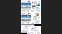"""AF085/86 : 31.03.1982 - 2 FFC voyagées """"Dernier vol Concorde AF Paris-Rio (Brésil)"""""""