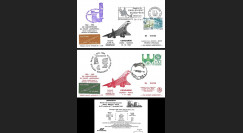 "AF011/002M : 31.10-1.11.1982 - 2 FFC voyagées ""Dernier vol Concorde AF Paris-Mexico"""
