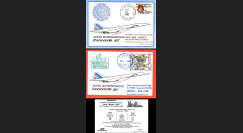 """AF011/002CP : 31.10-1.11.1982 - 2 CP voyagées """"Dernier vol Concorde AF Paris-Mexico"""""""