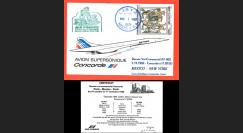 "AF002 : 1.11.1982 - CARTE voyagée ""Dernier vol Concorde AF002 Mexico-New York"""