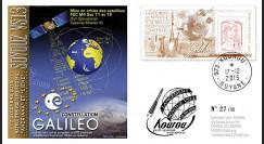 "VS13L : 2015 - FDC KOUROU ""Fusée SOYOUZ - Vol n°13 / Constellation GALILEO - FOC M4"""