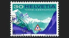 "SUI-12ob : 1967 SUISSE Timbre ""Inauguration tunnel routier transalpin du San Bernardino"""