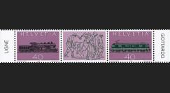 """SUI-18N : 1982 SUISSE Timbres """"Centenaire ligne et 1er tunnel ferroviaire du Gothard"""""""