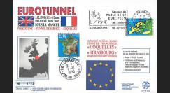 """PE225 : 1990 - FDC Parlement européen """"EUROTUNNEL - 1ère jonction sous  la Manche"""""""