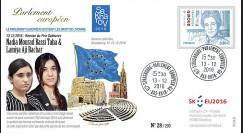 "PE705 : 12-2016 - FDC session du PE ""Prix SAKHAROV - Nadia Mourad & Lamiya Aji Bachar"""
