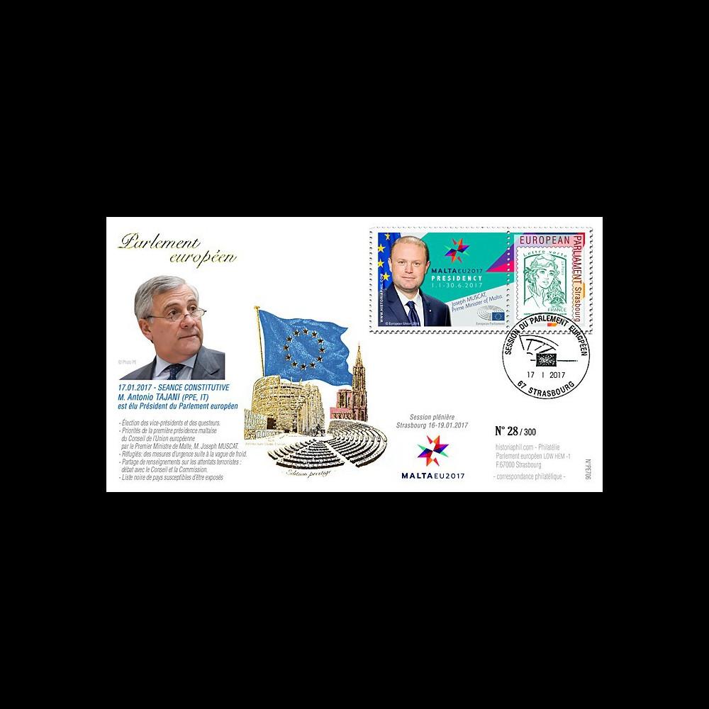 """PE706 : 01-2017 - FDC session """"Election Président du Parlement européen Antonio TAJANI"""""""