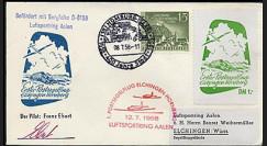 T67-3 T1 : 1958 - Pli 1er courrier aérien Elchingen-Hornberg par planeur