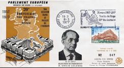 """AP135 : 1977 - FDC PE """"Election du Président du Parlement européen M. Emilio COLOMBO"""""""