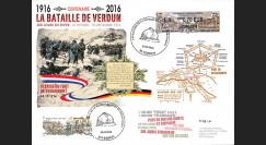 """CENT16-1 : 2016 - Maxi-FDC FRANCE """"Centenaire Bataille de Verdun / Fort de Douaumont"""""""