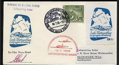 T67-3 T2 : 1958 - Pli 1er courrier aérien Elchingen-Hornberg par planeur