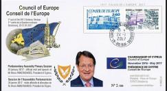 """CE68-IA : 2017 - FDC Conseil de l'Europe """"Visite de M. ANASTASIADES"""