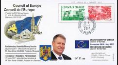 """CE68-IB : 2017 - FDC Conseil de l'Europe """"Visite de M. IOHANNIS"""