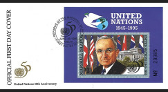 MARSH95 FDC Marshall Islands (USA) 'Signature Charte Nations Unies par H. Truman' 1995