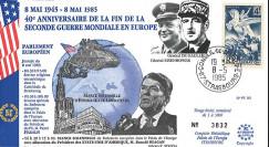 PE90 FDC PE 'Fin 2e Guerre Mondiale en Europe 1945' Reagan