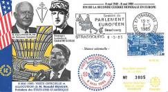 PE92 FDC PE 'Fin 2e Guerre Mondiale en Europe 1945' Reagan