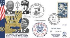 PE92A-T2 FDC 'Fin 2e Guerre Mondiale en Europe 1945' Reagan