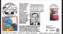 IK10 : FDC SUISSE 'GUERRE DU GOLFE - Plan de Paix GORBATCHEV / M. BUSH