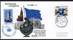 PE518 : 2006 - Enveloppe 1er Jour d'émission du TP EUROPA 2006