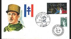 DG80AM : FDC Amiens '10e anniversaire mort du général de Gaulle / Exposition' 1980