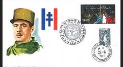 DG80LI : FDC Lille '10e anniversaire mort Gal de Gaulle / Timbres de la libération' 1980