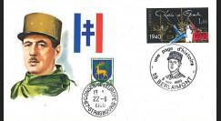 DG80BE : FDC Berlaimont '10e anniversaire mort Gal de Gaulle / Une page d'histoire' 1980