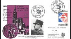 DG92NO : FDC Noyelles s/ Lens 'A demain de Gaulle / de l'Atlantique à l'Oural' 1992