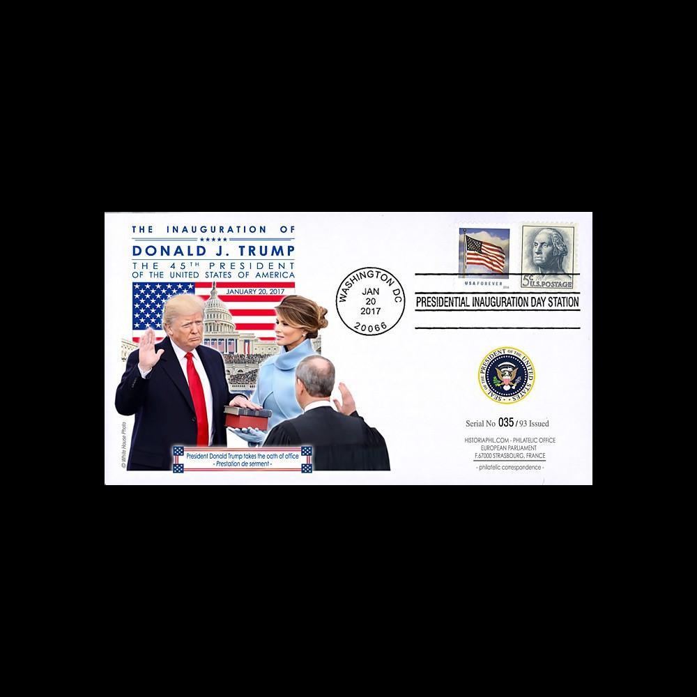 PRES17-USA2 FDC USA 'Investiture Donald TRUMP 45e Président des Etats-Unis' 2017