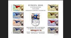 PE518FND : 2006 - Feuillet 1er Jour d'émission du TP EUROPA 2006