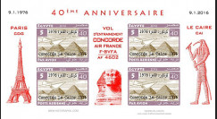 CO-RET75F5-ND Vignettes '40 ans Vol entraînement Concorde AF Paris-Le Caire 1976-2006'
