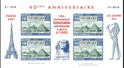 CO-RET75F10-ND Vignettes '40 ans Vol entraînement Concorde AF Paris-Le Caire 1976-2006'