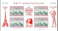 CO-RET75F20-ND Vignettes '40 ans Vol entraînement Concorde AF Paris-Le Caire 1976-2006'