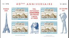 CO-RET75F40-ND Vignettes '40 ans Vol entraînement Concorde AF Paris-Le Caire 1976-2006'