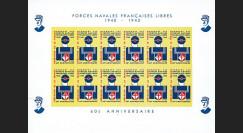 FNFL-43-03ND : 1943-2003 Feuillet hommage aux Forces Navales Françaises Libres