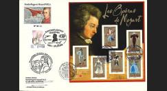MOZ06-1 : Pli aéronautique Premier Jour France - Autriche 2006  '250e anniversaire Mozart'