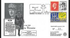 DG95CO2 : 1995 FDC 1er Jour Colombey-les-2-Eglises 'DE GAULLE / 1945-1995 liberté'