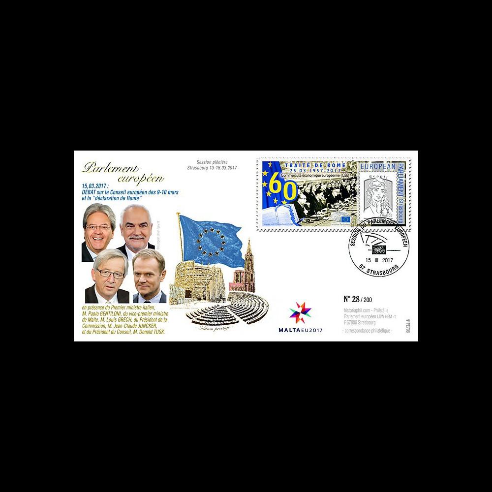 PE708 FDC session PE '60 ans Traité de Rome / Juncker