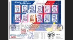 """PRES17-2M Maxi-FDC 12 vignettes """"Présidentielle 2017 / 11 candidats / Résultats 1er tour"""""""