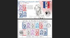 """PRES17-6C : Carnet 12 vignettes """"France Présidentielle 2017 2nd tour / Macron et Le Pen"""""""