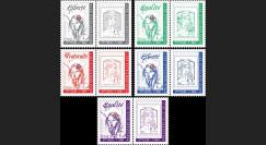 """PRES17-6PT1/5 : Série 5 porte-timbres """"Marianne / Présidentielle 2017 1nd TOUR 7 mai"""""""