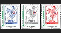 "PRES12-10/12N : Série 3 TPP ""Presidentielle 2017 Investiture - COQ symbole de la France"""