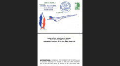 CO85-FN France Carte Front National / Fête Bleu Blanc Rouge du Bourget / Concorde 1985