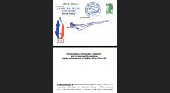 CO85-FN France Carte Front National / Fête Bleu Blanc Rouge du Bourget / Concorde 1985