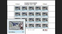 "PE516F : 2006 Planche TPP AUTRICHE ""Concorde - Flight for Europe - Vol pour l'Europe"""