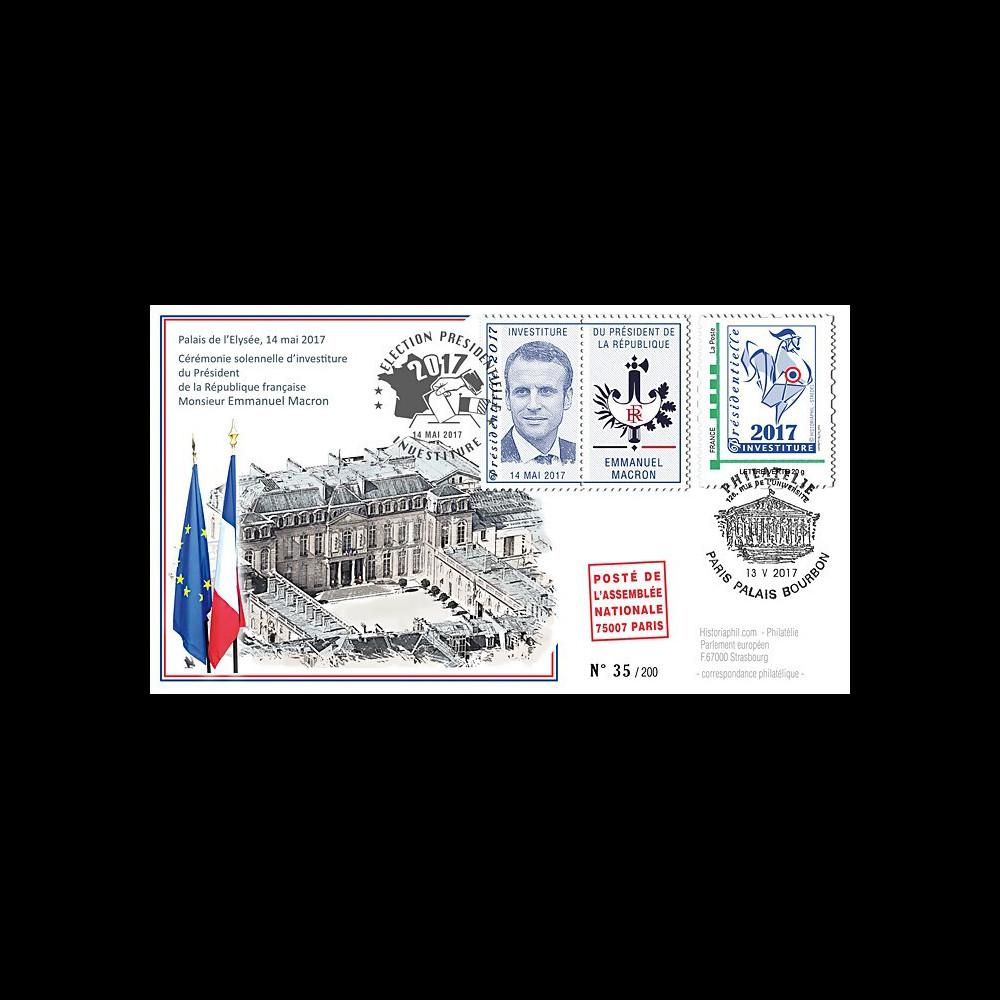 """PRES17-10 : FDC """"France Présidentielle 2017 / Investiture du Président MACRON"""" TYPE1"""