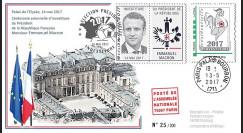"""PRES17-11 : FDC """"France Présidentielle 2017 / Investiture du Président MACRON"""" TYPE2"""