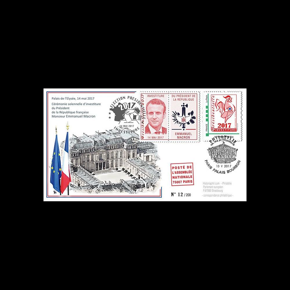 """PRES17-12 : FDC """"France Présidentielle 2017 / Investiture du Président MACRON"""" TYPE3"""