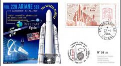 "VA228L-T1 FDC KOUROU ""Fusée ARIANE 5 - Vol 228 / Satcom Intelsat 29e EPIC"" 27-01-2016"