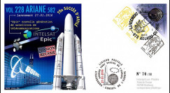 "VA228L-T2 FDC KOUROU ""Fusée ARIANE 5 - Vol 228 / Satcom Intelsat 29e EPIC"" 27-01-2016"