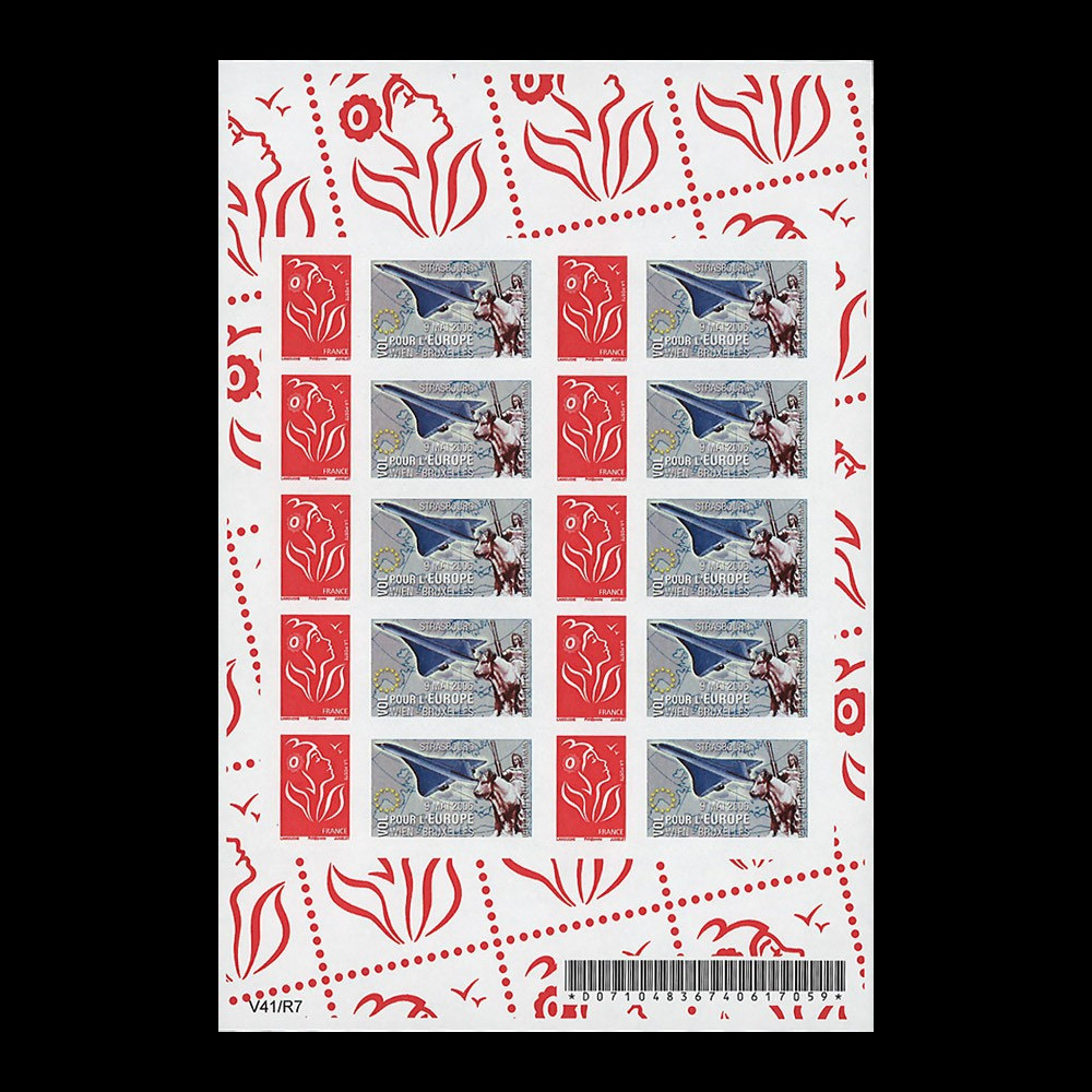 "PE517-N1F : 2006 - Feuillet 10 TPP FRANCE ""Flight for Europe - Vol pour l'Europe"""