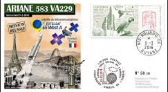 """VA229L-T1 FDC KOUROU """"Fusée ARIANE 5 - Vol 229 / EUTELSAT 65 West A"""" 09-03-2016"""